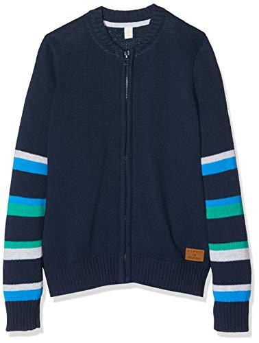 ESPRIT KIDS Jungen RP1803408 Sweater CARDIGA Strickjacke, Blau (Navy 490), (Herstellergröße: 116+)