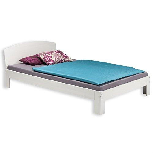 IDIMEX Holzbett Einzelbett Bett Tim Kiefer massiv Weiss lackiert 90 x 200 cm (B x L)