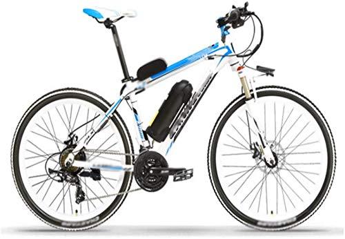 Bicicletas eléctricas de alta velocidad de 26 pulgadas, 48 V/10 A, batería de litio para exteriores, ciclismo, viajes, trabajo, adultos, color blanco