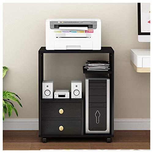 GAXQFEI Impresora Stand Mobile Desktop Printer Soporte Multifuncional Impresora Soporte de Aterrizaje Oficina de la Oficina Mesa de Escritorio Alenamiento de Estantes de Escritorio Impresora de Esc