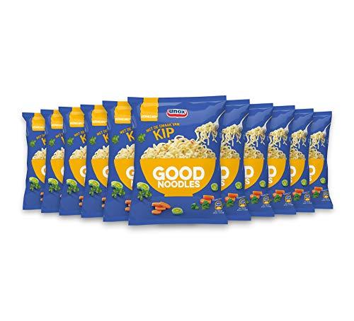 Unox Kip Good Noodles daar kun je lekker lang op door – 11 x 70 g – Voordeelverpakking
