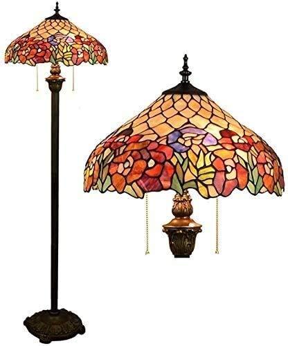 Dekorative Stehlampe Magische Beleuchtungsoptionen Moderne Stehlampe Raumleuchte Tiffany-Stil Stehlampe Retro Buntglas Club Dekor Rose Glasiert Lampe Hotel Stehlampe Schlafzimmer Wohnzimmer Ba Suit Fo