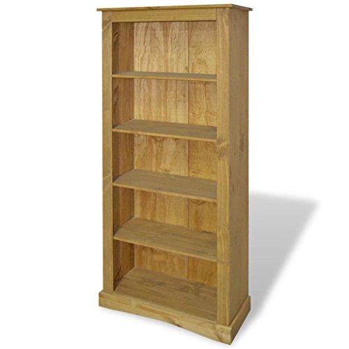 UnfadeMemory Estantería Librería,Estante de CD DVD,Estantería para Libros para Salón Habitación Oficina Estudio,Estilo Mexicano de Mobiliario