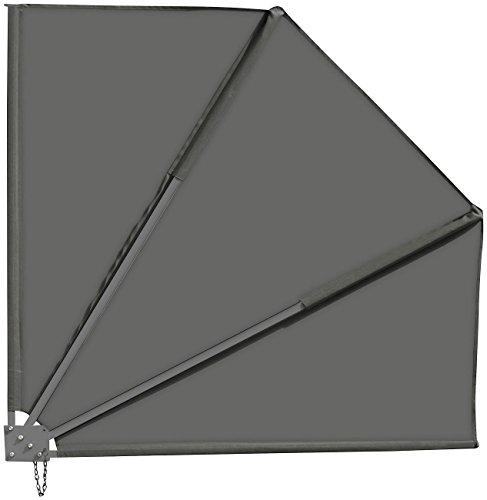 Royal Gardineer Sichtschutzfächer: Sichtschutz-Fächer für Balkon, 140 x 140 cm, anthrazit (Balkonfächer zum Klemmen)