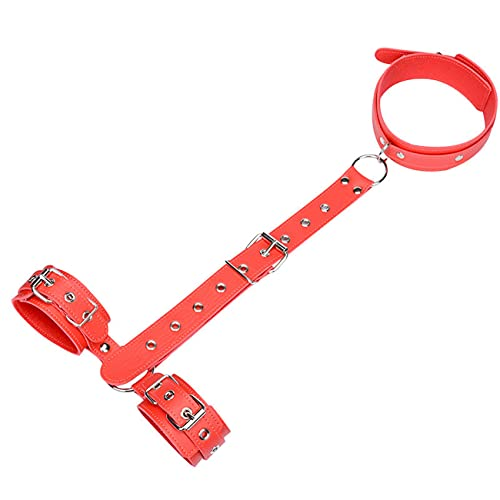 Red Leather is Suitable for Women's Neck to Wrist Adjustable Strap
