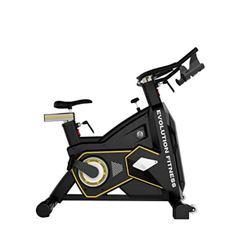 Evolution Fitness Commercial Gym/Home Spin Bike for Cardio Workout Exercise Fitness Cycle for Home Gym (Black)