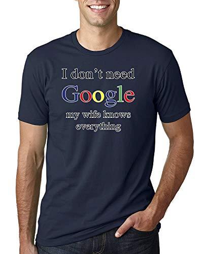 Ich Brauche kein Google Meine Frau weiß Alles Herren T-Shirt Grafik Mode Tee L.