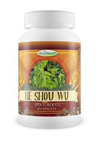 Get Rid of Gray Hair with He Shou Wu Herb, Best Grey Hair Treatment to Prevent and Stop Gray Hair, Natural Anti Gray Hair Remedy, 10x Strength Foti Root Extract in an Easy to Take Capsules