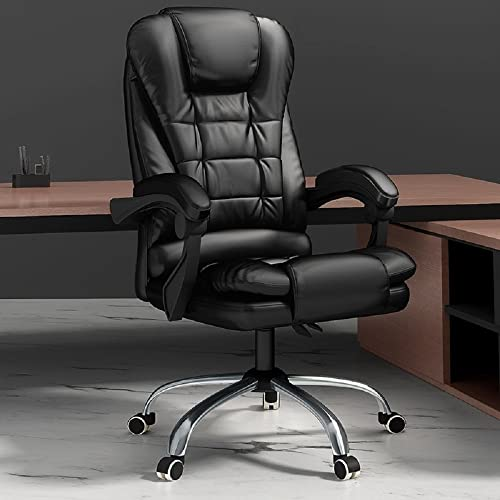 BESTOR® Back Massage Chair with Vibration with Leatherette Home,Office,Study Chair Executive Ergonomic Design Desk Revolving...