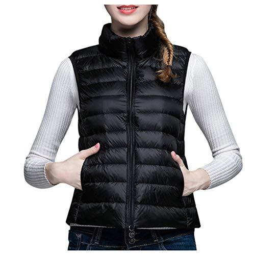 TRENDINAO Winter Women's Lightweight Down Vest Casual Short Puffer Waistcoat Jacket PaddedVests