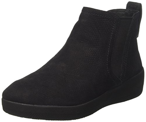 Fitflop Superchelsea Boot, Stivali Chelsea Donna, Nero (Black Snake-Embossed 394), 37.5 EU