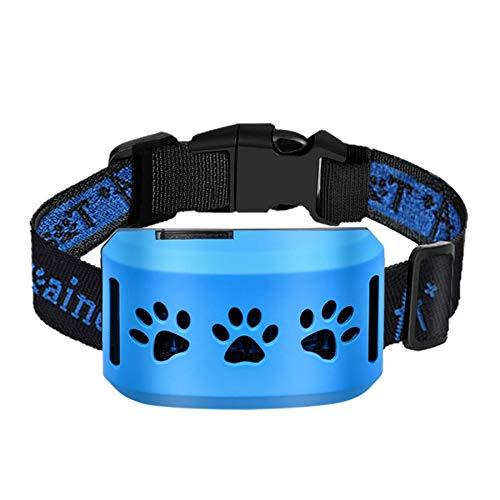 Collar de perro recargable automático anti-choque - 7 niveles ajustables, 2 modos de pitido/vibración, collar de adiestramiento para perros pequeños/grandes con dos correas 10~70cm ajustable, IP67
