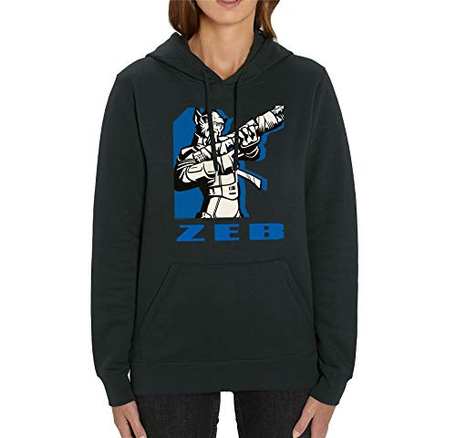 Star War Rebels Blue Printed Zeb Adultos Unisex Negro Sudadera
