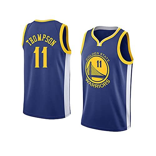 LGLE Camiseta de Baloncesto para Hombre - Klay Thompson - Basketball Warriors # 11, Camiseta de Baloncesto Swingman de Malla Bordada,A,S