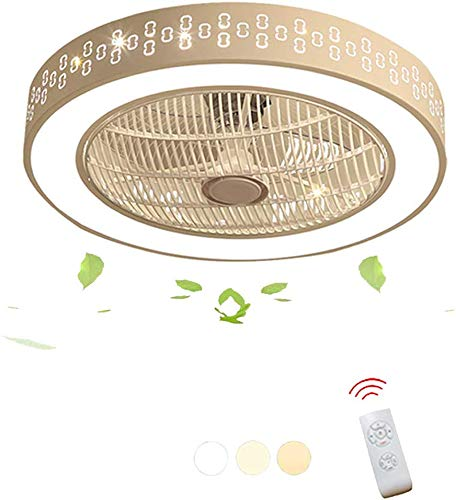 CattleBie La luz LED Ventilador de Techo Techo Invisible Ventilador Regulable Creativa Moderna con el Mando a Distancia for la lámpara de la Sala de Estar Dormitorio de la lámpara Ventilador de Techo