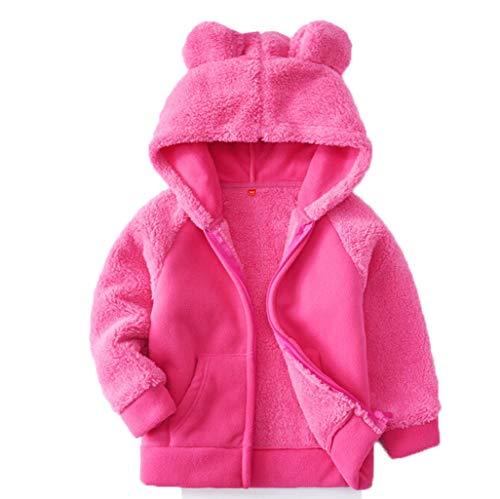 Baby Säuglings Coat Mantel Mädchen-Jungen-Herbst-Winter-mit Kapuze Mantel-Mantel-Jacke-Starke warme Fleece Kleidung Yuiopmo