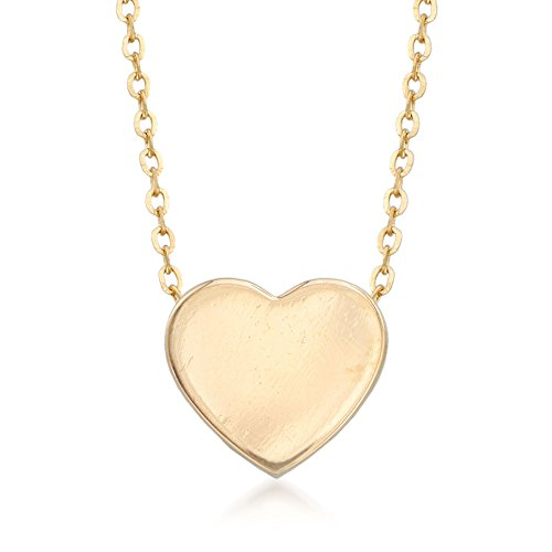 Ross-Simons 14kt Yellow Gold Heart Pendant Necklace For Women 16, 18 Inch