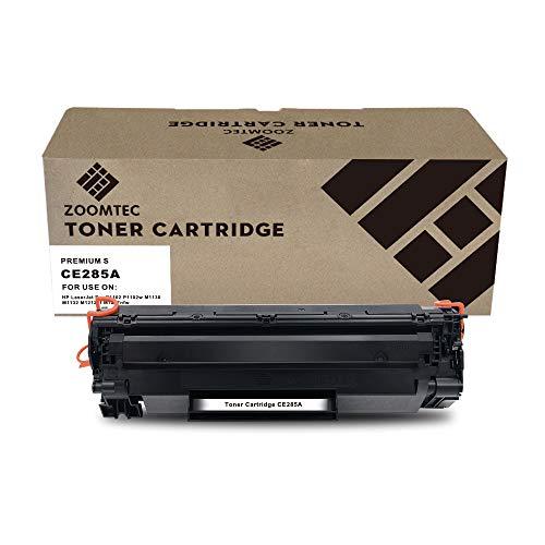 ZOOMTEC CE285A 85A Cartucho de Toner Compatible para HP Laserjet Pro P1100 P1102 P1102W M1212NF M1217NFW M1130 M1132 M1132MFP(1 Negro)