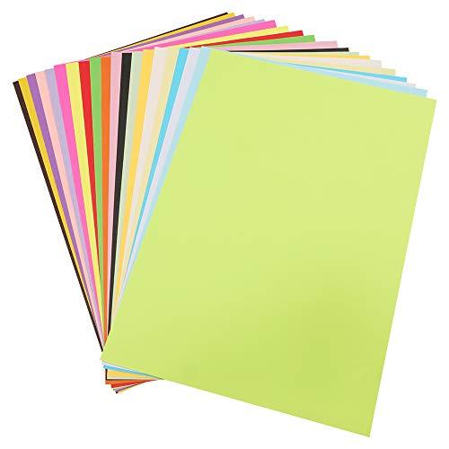 100 Blatt A4 Origami-Papier, 70 GSM-Farbpapier, sortiertes Pastellpapier für handgefertigtes Origami, farbiges Druckerpapier(297 MM x 210 MM)