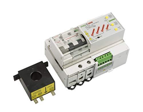 Disyuntor Magnetotérmico Monofásico con protección por sobreintensidad, diferencial, baja tensión y sobretensión, con Rearme Automático LED707 (25A, 5 milisegundos)