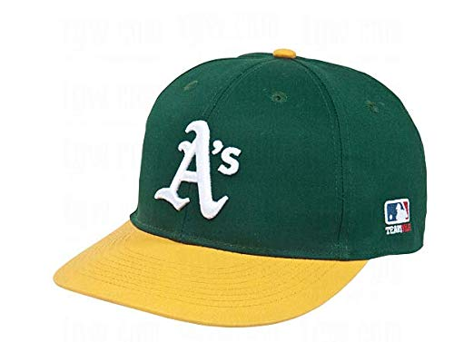 Oakland Athletics/A's (Home - Green/Yellow) ADULT Adjustable Hat MLB Officially Licensed Major League Baseball Replica Ball Cap