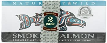 Alaska Smokehouse Smoked Salmon Foil Pack 16 Ounce  Pack of 2