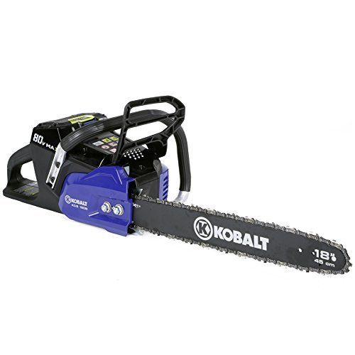 Kobalt 80-volt Max-volt Lithium Ion (Li-ion) 18-in Cordless Electric Chainsaw