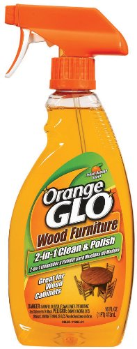 Orange Glo Wood Furniture 2-in-1 Clean and Polish Spray, 16 Ounce (Pack of 2)