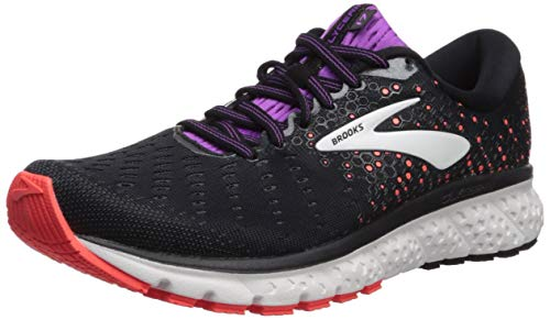 Brooks Damen Glycerin 17 Laufschuhe, Schwarz (Black/Fiery Coral/Purple 059), 40.5 EU