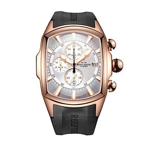 REEF TIGER Herren Uhr analog Quartz mit Kautschuk Armband RGA3069-T-PWB