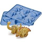 Lakeland - 6 Moules à Gâteaux Individuels En Forme De Dinosaures En Silicone