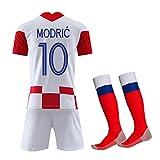 Ropa de fútbol Traje infantil, Modric 10 Rakitić 7 Perišić 4 Camiseta y...