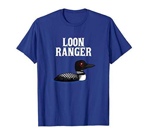 Funny Loon Ranger Cartoon Common Loon Bird T-Shirt (Ranger Little Bird)