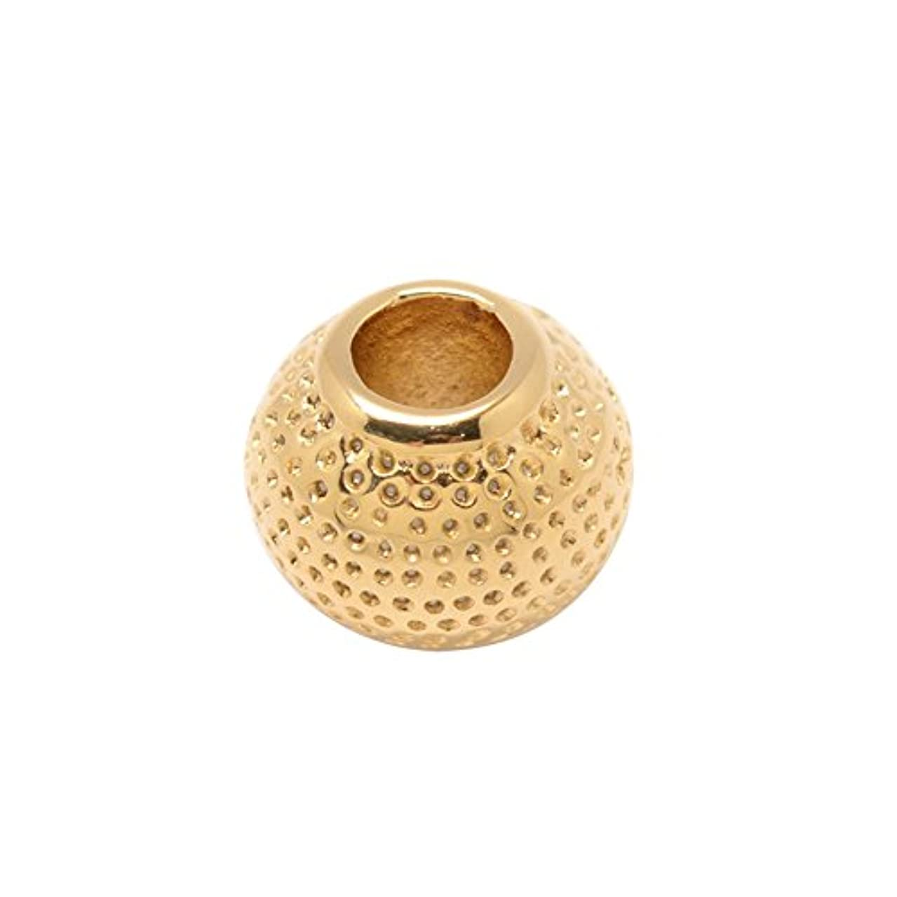 NBEADS 10 Pcs Rondelle 304 Stainless Steel European Large Hole Beads, Golden, 12x10mm, Hole: 5mm