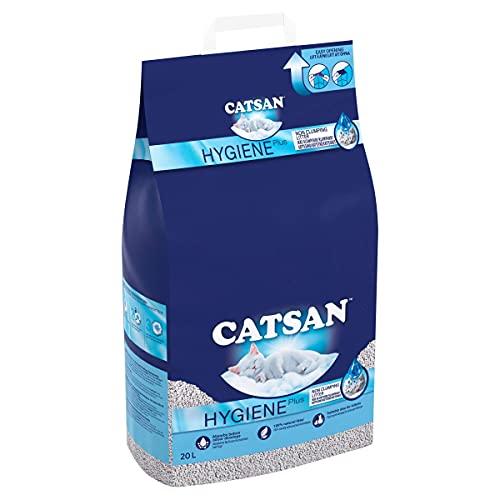 Catsan Hygiene Plus Cat Litter, with White Hygiene Granules To Prevent...