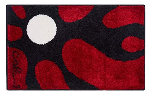 Grund COLANI Exklusiver Designer Badteppich 100% Polyacryl, ultra soft, rutschfest, ÖKO-TEX-zertifiziert, 5 Jahre Garantie, Colani 12, Badematte 70x120 cm, rot