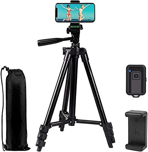 Handy Stativ Smartphone Stative Leichtes Kamera Stativ für iPhone/Samsung/Huawei Dreibeinstativ Lightweight Tripod mit Handyhalterung and Fernauslöser