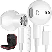 USB C Headphones, Type C Earphones for Samsung Galaxy S21 Ultra 5G USB C Earbuds Magnetic HiFi Stereo Digital DAC Earphone with Mic Wired Headphone for Android Smartphone Galaxy S20 FE Note 20 Pixel 5