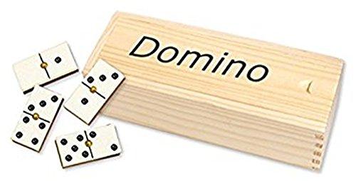 Domino caja madera. Doble 6