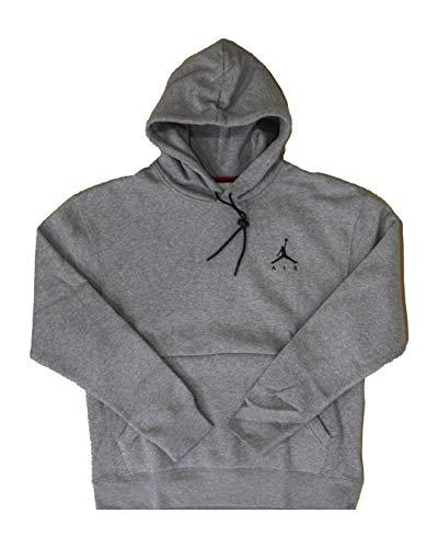 Air Jordan Mens Jumpman Hoodie Performance Hoody Hooded Top Long Sleeve Carbon Heather/Carbon Heather/Black M