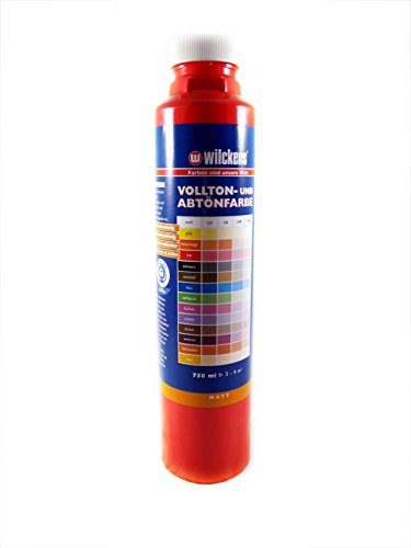Qualitäts Abtoenfarbe - Volltonfarbe / 750 ml/matt - 14 Farben zur Auswahl (Rot)