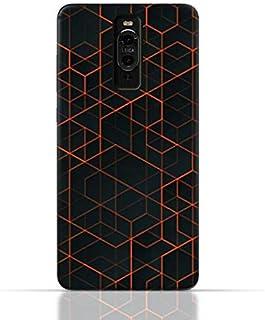 جراب Huawei Mate 9 Pro من السيليكون TPU بتصميم هندسي تجريدي.