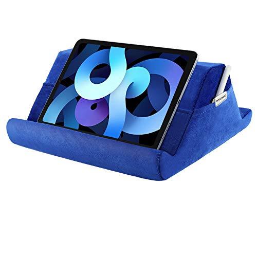 """MoKo Soporte de Almohada de Terciopelo para Tableta, Multi-ángulo Suave y Portátil de Lectura Compatible con iPad 8ª10.2, iPad Air 4ª10.9/10.2"""", iPad Air 3/2, iPad Pro 11/10.5/9.7 - Gemas Azul"""