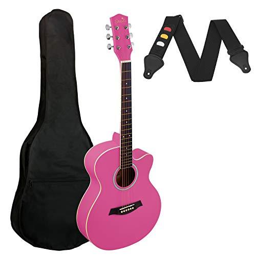 Tiger Jasmin Set de Guitarra Clásica de 3/4, color Rosa
