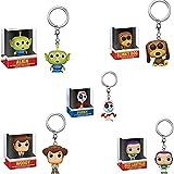 HKSK 5Pcs Figuras Pop Toy Story 4 Slinky Dog Buzz Lightyear Alien Woody Forky Llavero Figura De Acci...
