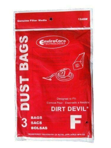 150 Royal Dirt Devil Canister Type F Allergy Vacuum Bags, Can Vac, Power...