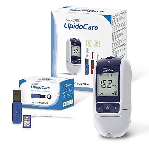 LipidoCare Cholesterin Messgerät zur Bestimmung von HDL, LDL, Gesamt Cholesterin, Triglyzeride