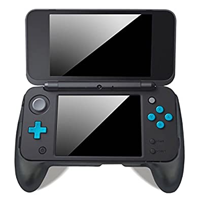New 2DS XL Grip, LeSB Hand Grip with Stand for NEW Nintendo 2DS XL/LL 2017 (Black)