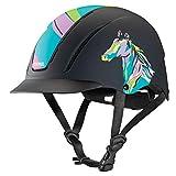 Troxel Spirit Horseback Riding Helmet, Pop Art Pony, Extra Small (6 1/4 - 6 1/2)