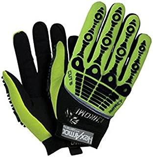 HexArmor 4026-8 Size 8 Hi-Viz Green/Black Chrome Series Clute Cut Super Fabric/Synthetic Leather Reusable Cut Resistant Gloves with Elastic Cuff, English, 15.34 fl. oz, Plastic, 1 x 7.5 x 4